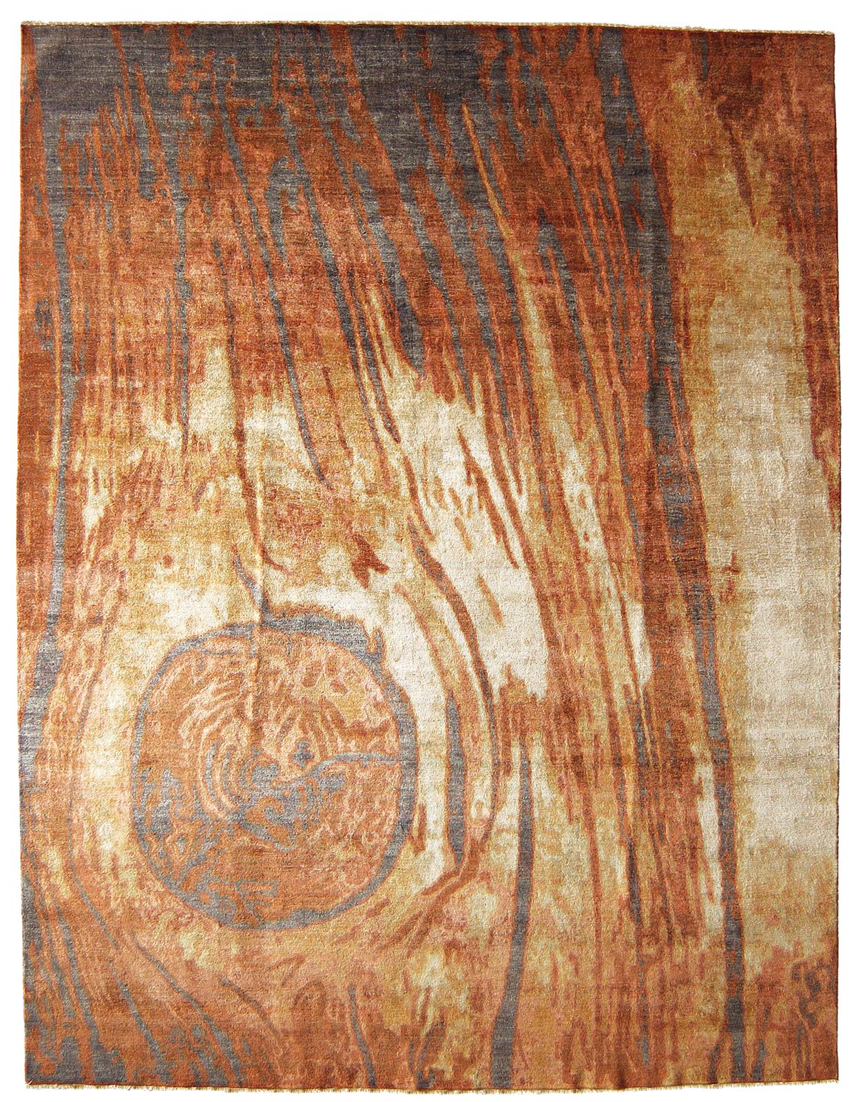 Tappeto Moderno dal Disegno a Tronco d'Albero Tagliato