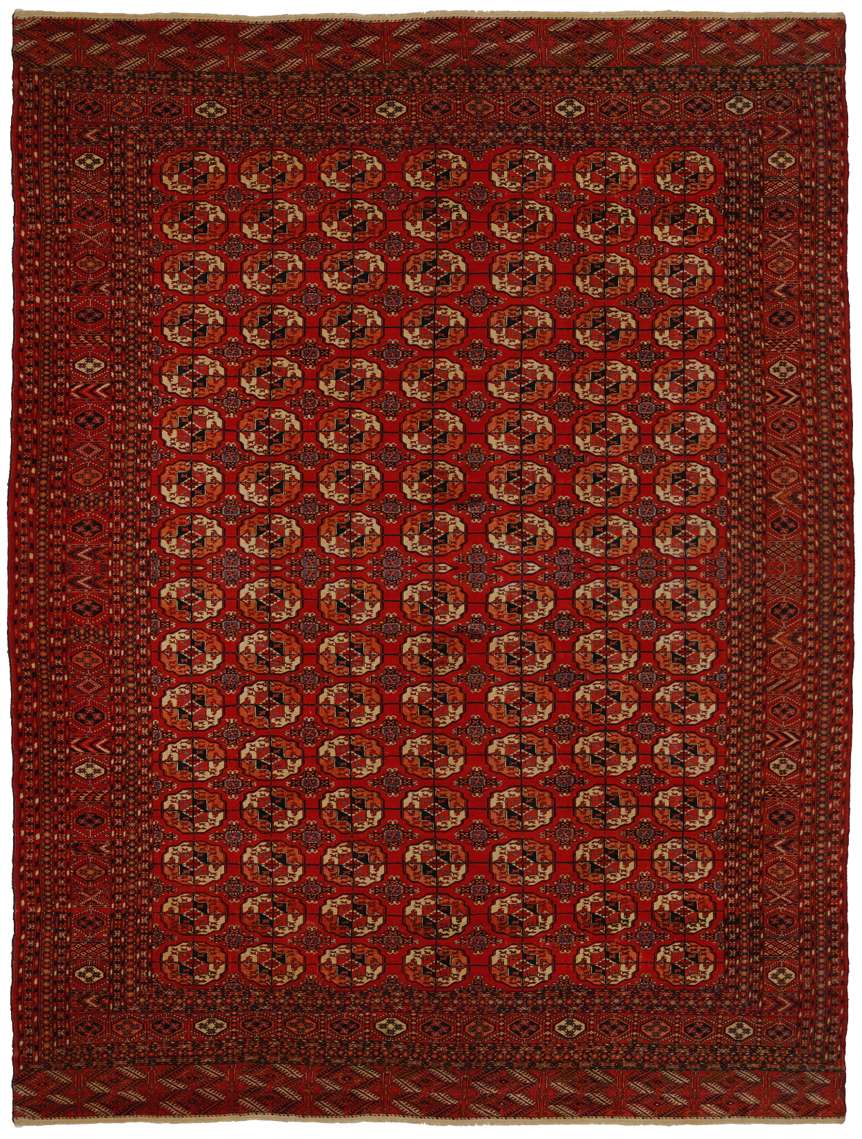 tappeto turcomanno antico