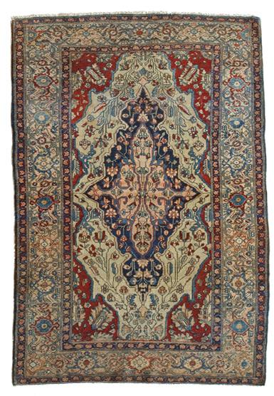 Tappeto persiano antico XIX secolo
