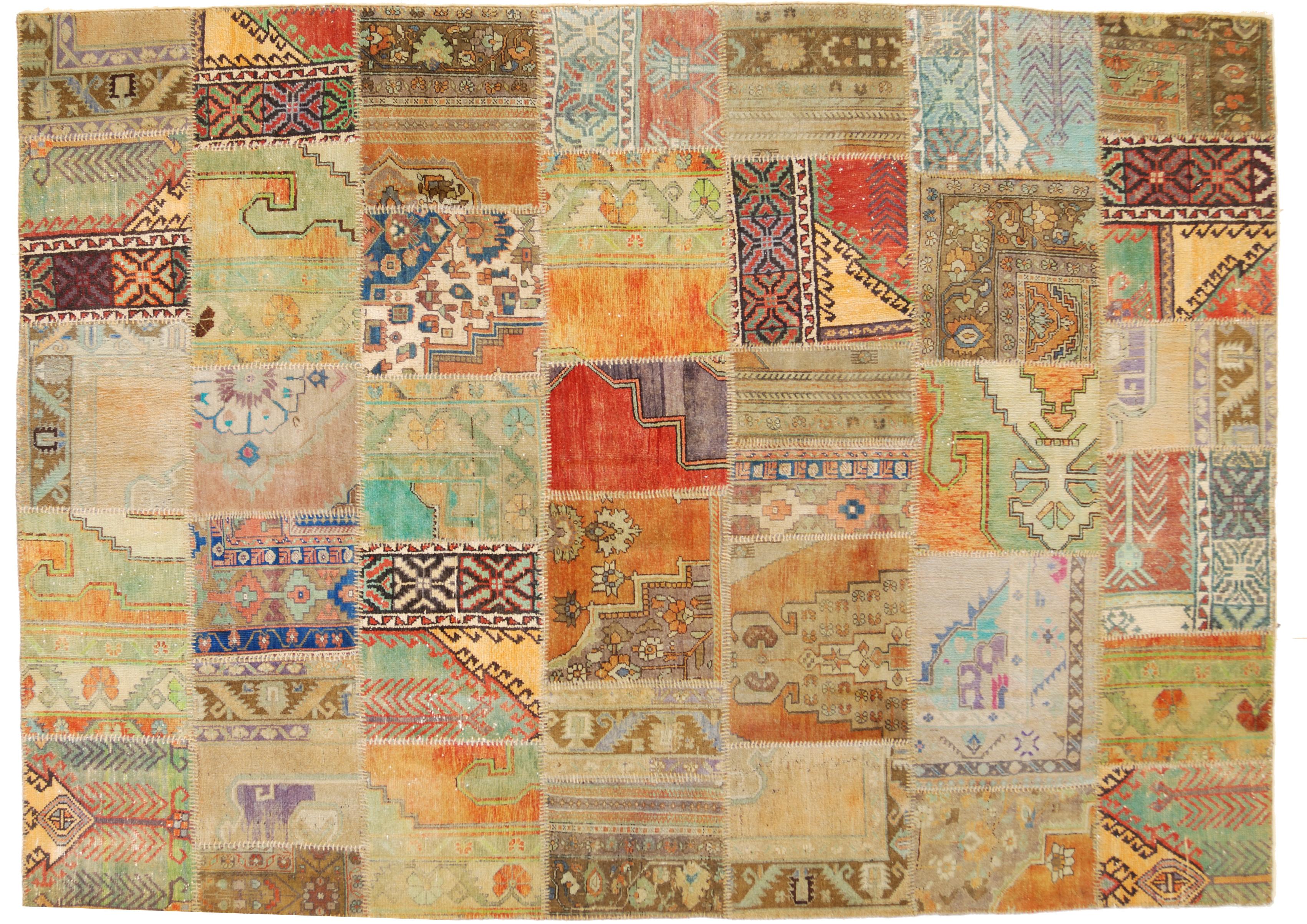 Tappeti Kilim Antichi : Tappeti patchwork antichi u pelliccia sintetica nera corta