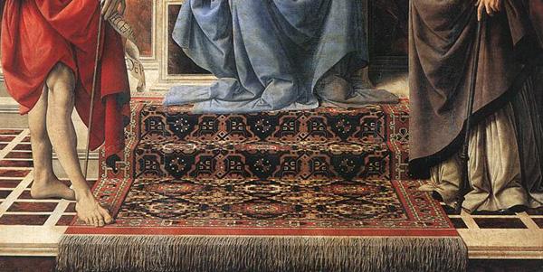 Tappeto turcomanno? nel dipinto Madonna del Verrocchio