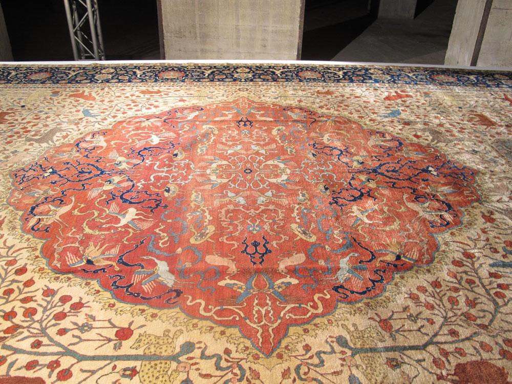 riproduzione del tappeto Safavide