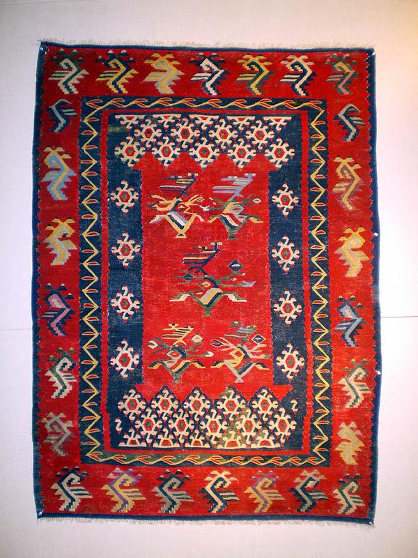 Sharkoy-Kilim-Area-Balcanica-metà-del-XIX-secolo-106x149-cm