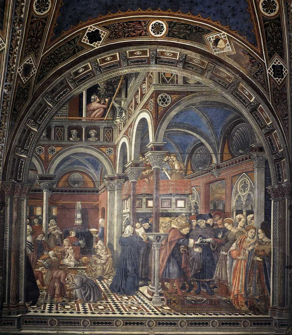 Tappeto ottomano in dipinto di Domenico di Bartolo