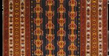 tappeto vecchio turcomanno