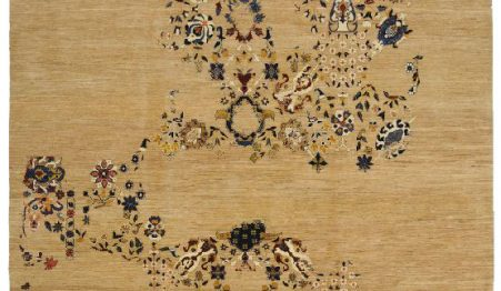 Tappeto orientale, moderno, persiano.