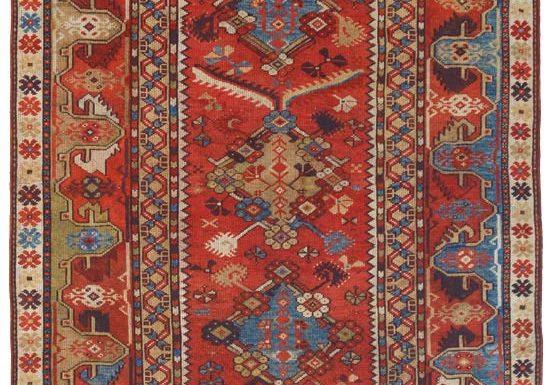 Tappeto Melas anatolico antico Turchia XIX secolo