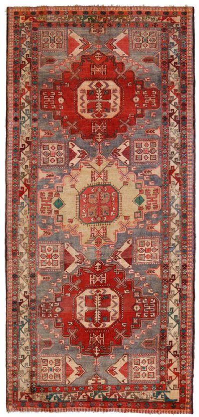 Meshkin vecchio tappeto persiano geometrico