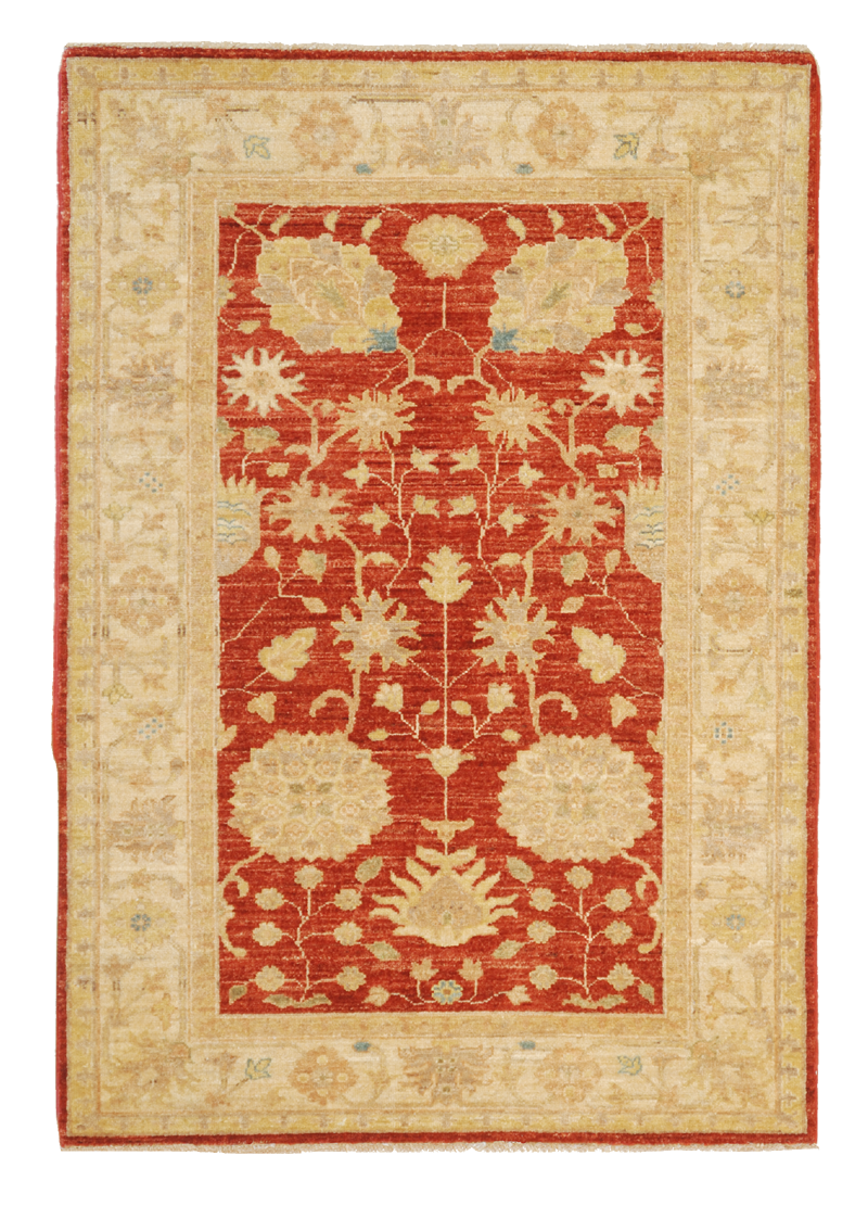 Soft Red Agra rug