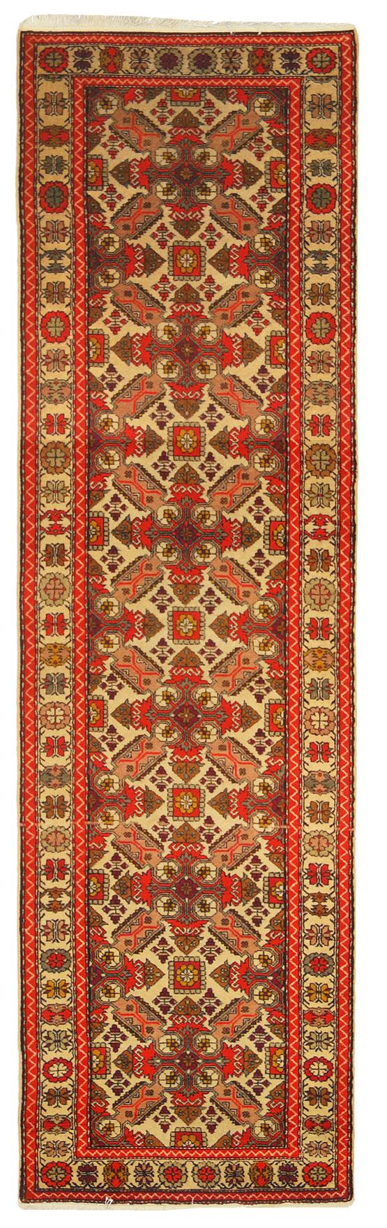 codice:7603 tipologia:Altri Tappeti collezione:Altri Tappeti provenienza:Caucaso dimensioni:75 X 267 Cm caratteristiche:Geometrico