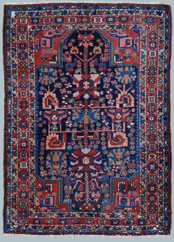 Vecchio tappeto persiano bakhtiari blu morandi tappeti - Pulizia tappeto persiano ...