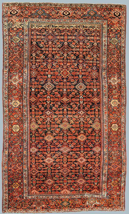 Tappeto malayer antico formato kelley con un piccolo - Pulizia tappeto persiano ...