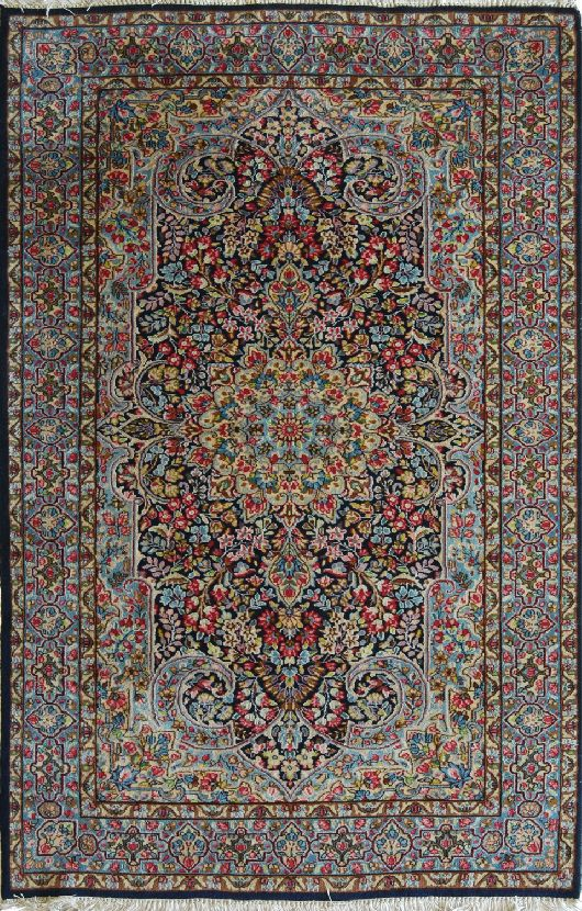 Kirman laver cm 151 x 247 morandi tappeti - Pulizia tappeto persiano ...