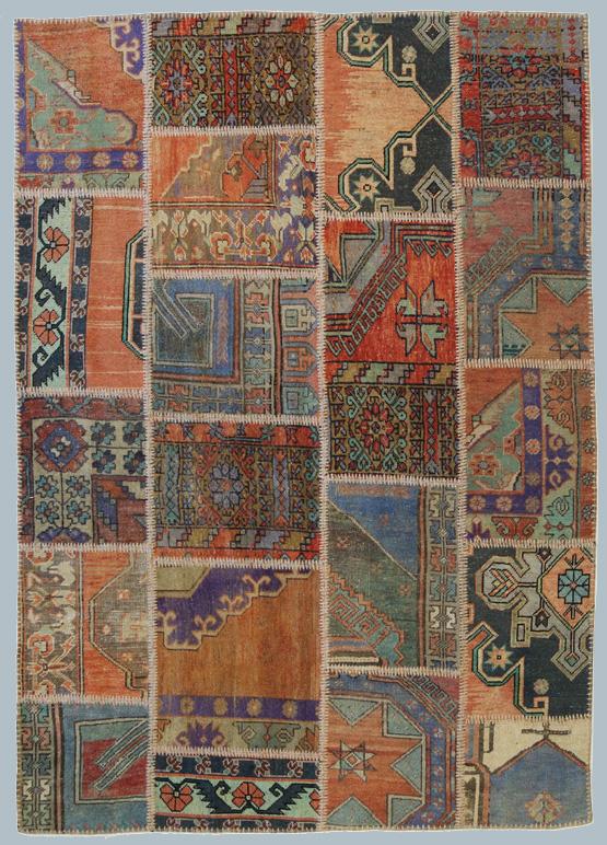 Patchwork di tappeti anatolici vecchi ed antichi  Morandi ...