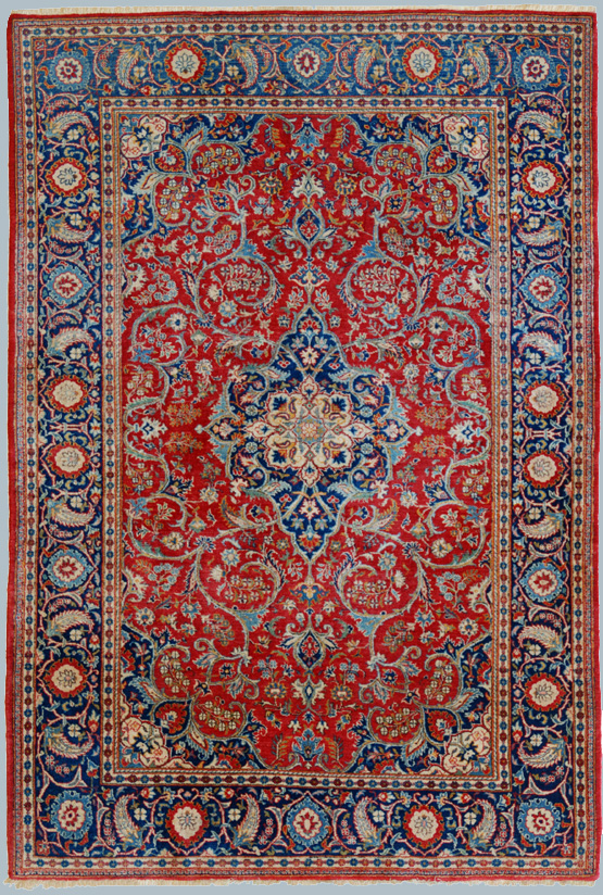 Kashan Antico Rosso Tappeto Epoca Dabir Morandi Tappeti