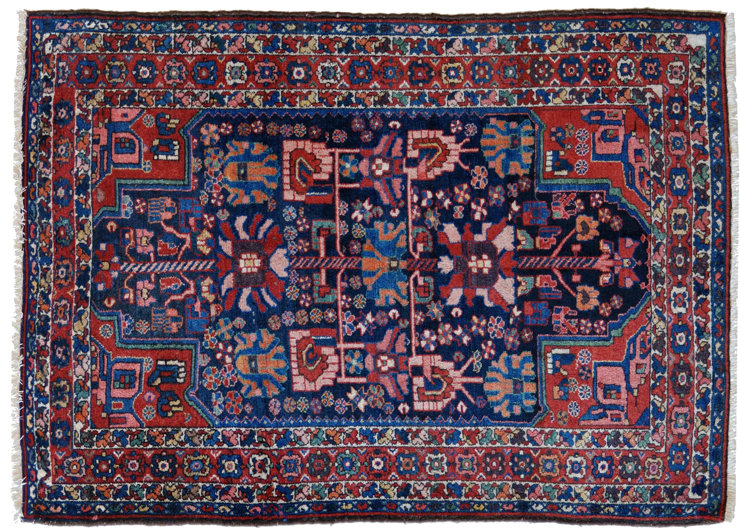 Vecchio tappeto persiano bakhtiari blu morandi tappeti - Tappeti immagini ...