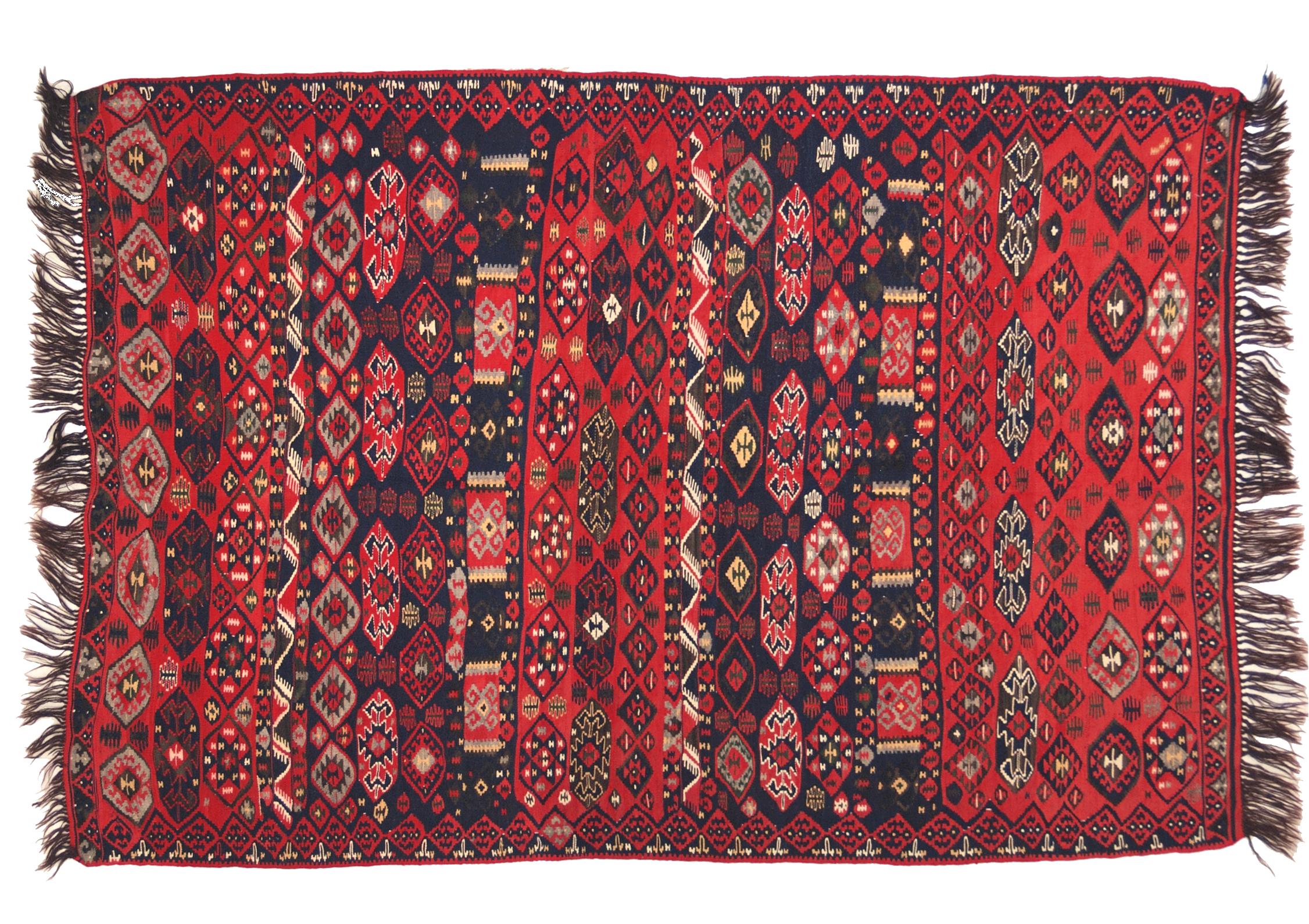 Tappeti Kilim Afgani : Van kilim anatolico antico ordito in lana morandi tappeti
