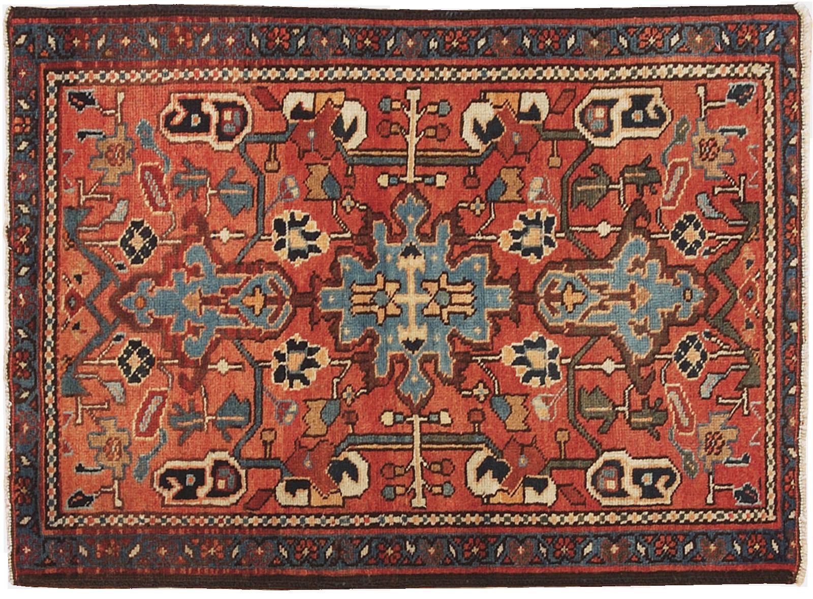 Piccolo tappeto Heriz dall inconfondibile disegno stilizzato di origine  armena