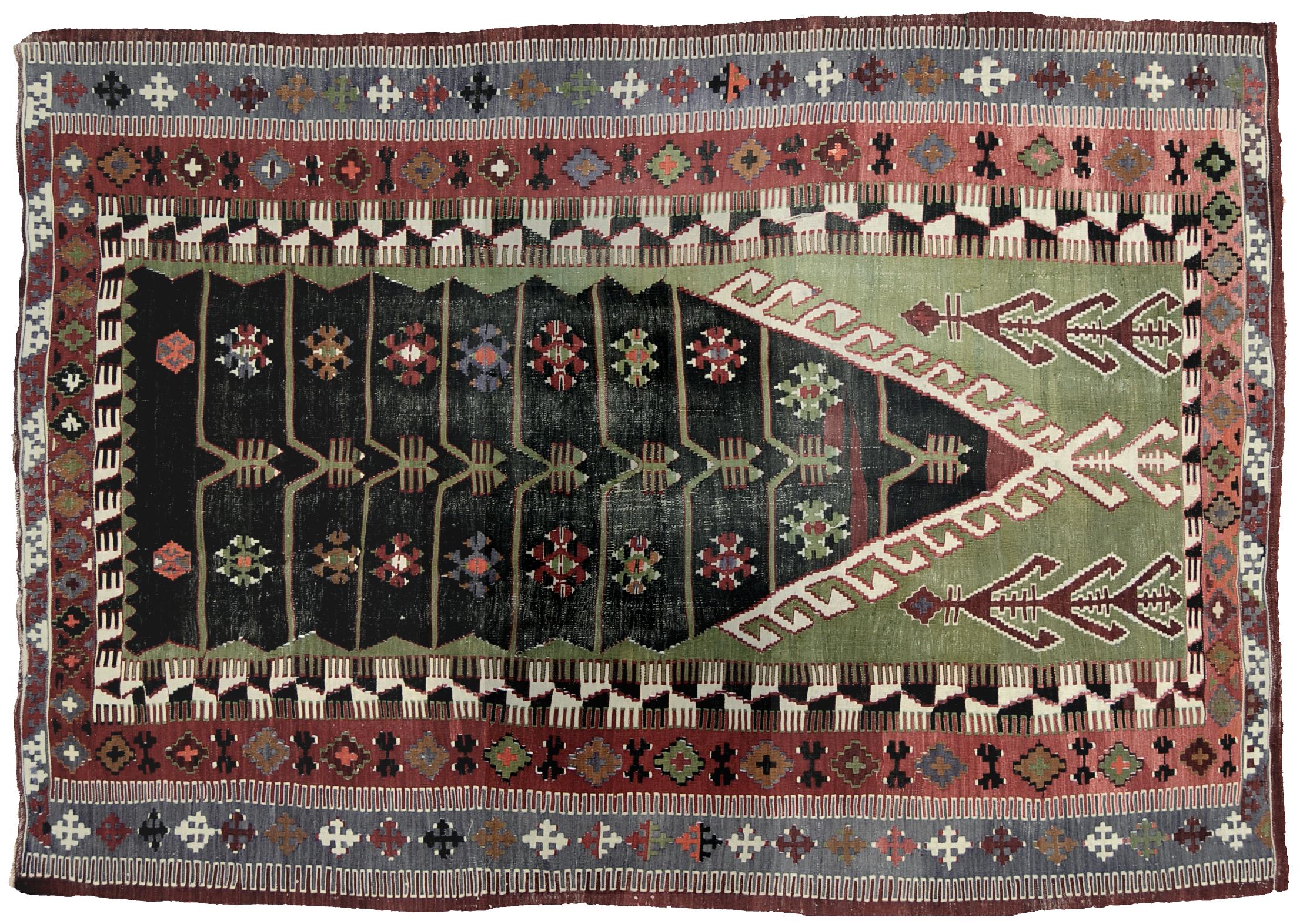 Tappeti Kilim Afgani : Kilim obruk cm morandi tappeti