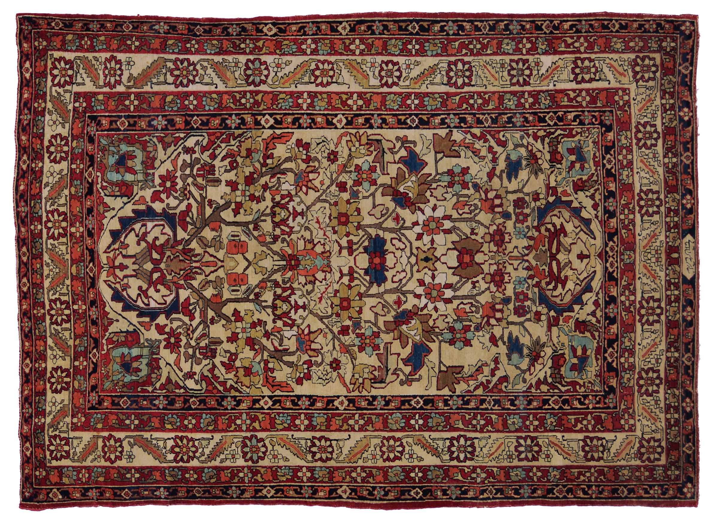 Tappeto raver antico per collezionisti morandi tappeti - Tappeti persiani antichi ...