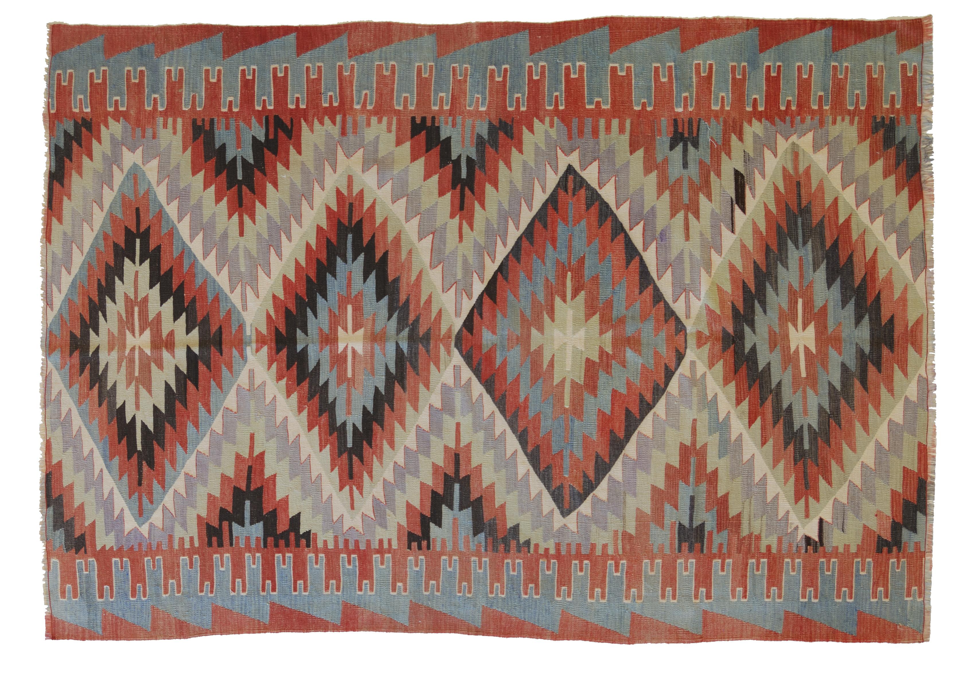 Tappeti Kilim Antichi : Denizili tagliato morandi tappeti