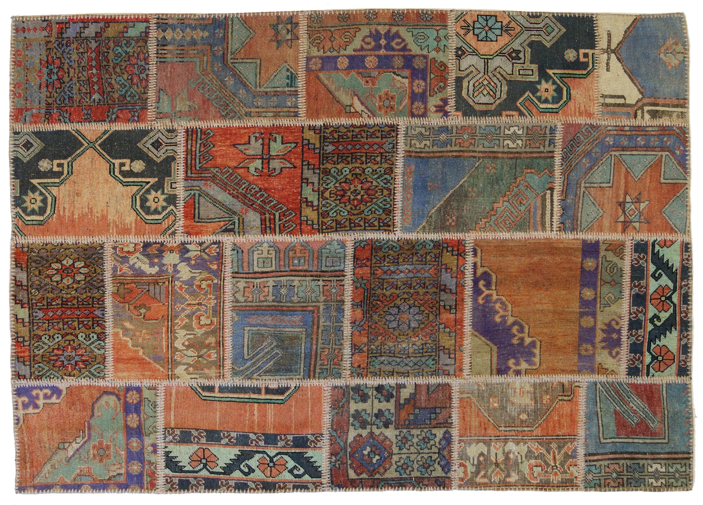 patchwork di tappeti anatolici vecchi ed antichi morandi