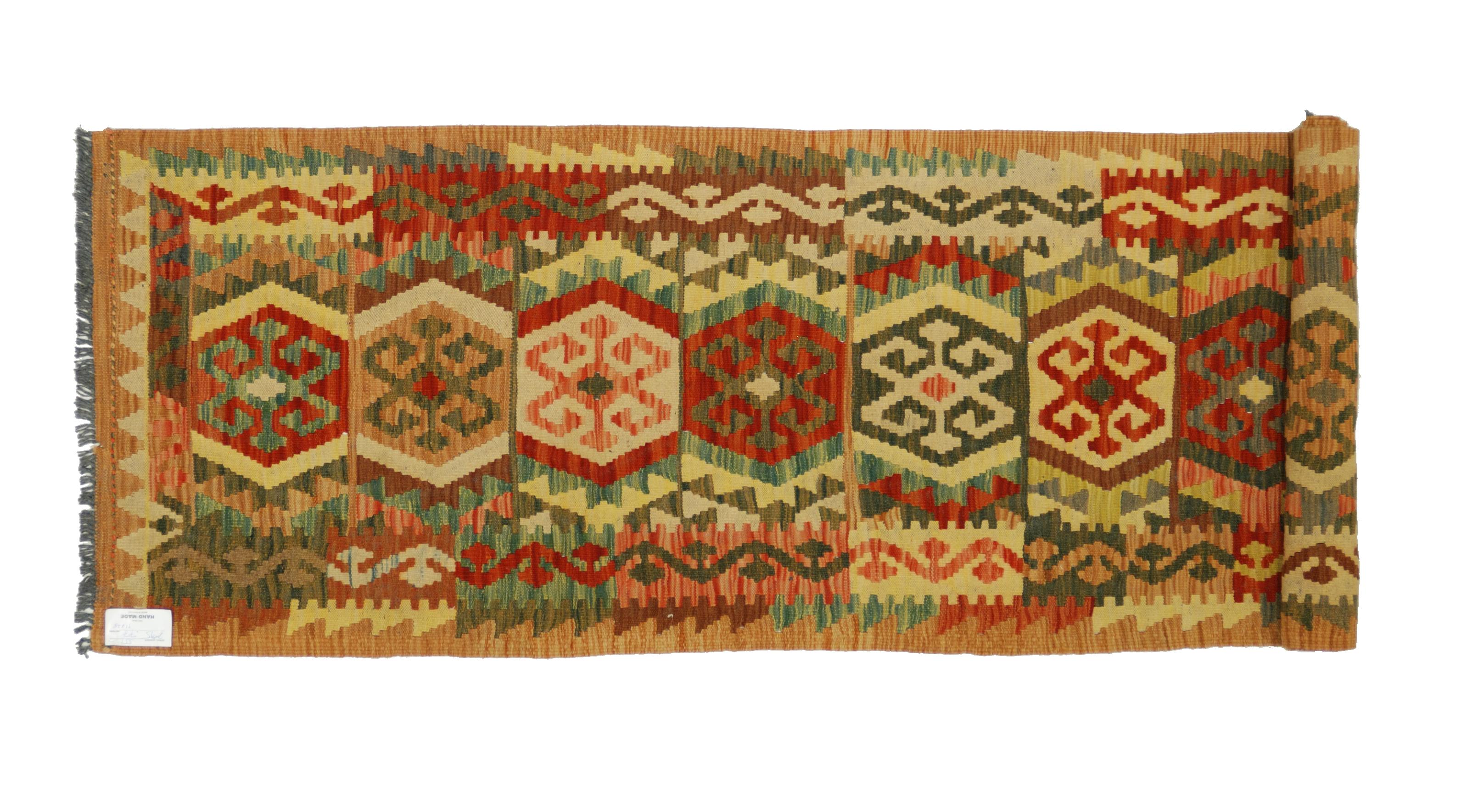 Tappeti Kilim Afgani : Tappeto kilim a passatoia stretta morandi tappeti
