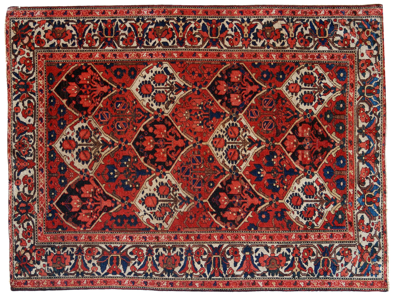 Bakhtiari persiano iran disegno a formelle morandi tappeti - Tappeto di giunchi ...