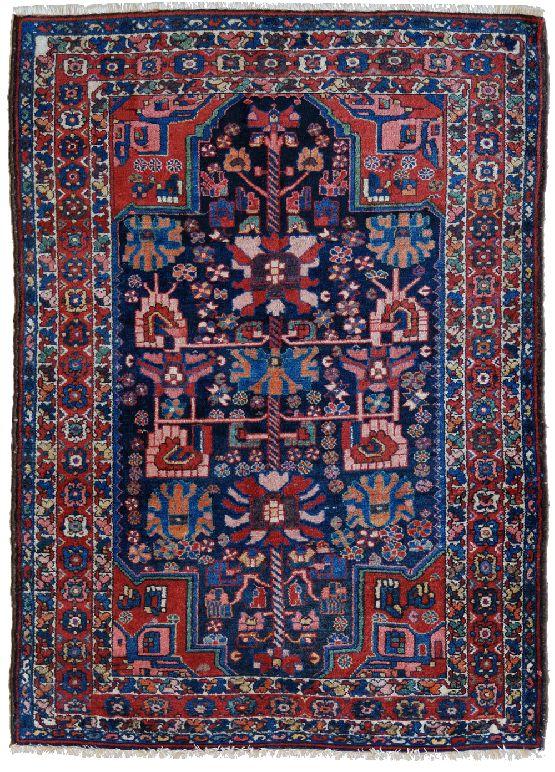 Vecchio tappeto persiano Bakhtiari blu  Morandi Tappeti