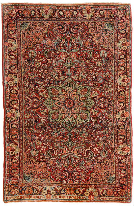 Tappeto mahal sarouk antico morandi tappeti - Tappeti persiani antichi ...