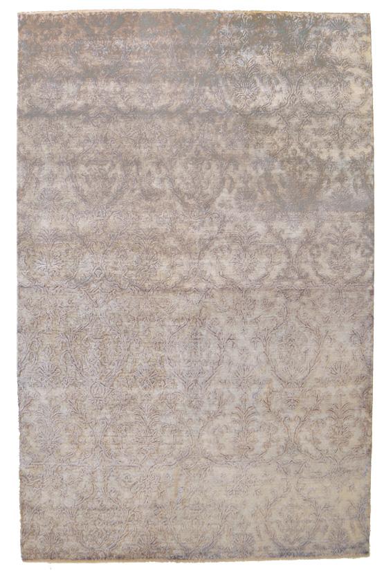 Ramage in modulo continuo sfumato dal tortora al grigio - Tappeto grigio chiaro ...